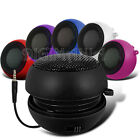 Capsule Speaker Black Compact 3.5mm For Most Mobile Phones