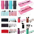 Makeup Brushes Set Cosmetic Brush Kit Leather Case/Cup Holder Beauty Care Tools
