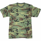 Army Camo Tee Woodland Camouflage Tee T Shirt T-Shirt With Chest Pocket