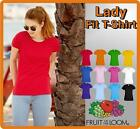 Lady Fit T-Shirt Fruit of the Loom Ladie Girlie Shirt S M L XL XXL TOP ANGEBOT