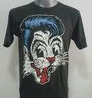 STRAY CATS ROCKABILLY T-SHIRT BLACK SIZE S M L  #S022