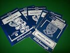 Sheffield Wednesday Home Programmes Retro 1965 1966 Springett Mobley Eustace