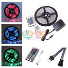 Colorful 5M RGB SMD 3528 300LED Strip Light Waterproof 24Key Remote Controller