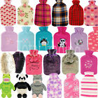 Hot Water Bottles Warmer With Beautiful Covers Winter Gift Animal Fluffy Novelty