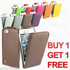 LEATHER FLIP CASE COVER POUCH + SCREEN PROTECTOR FOR IPOD TOUCH 5 5G 5TH GEN