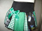 New Girls Green White Black Kitty Check Spots tartan pleated Skirt gift party