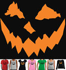 Halloween Funny T-Shirts Ladies Men's Pumpkin Scary Singlet New size Monster new