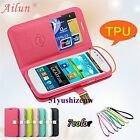 DER Ailun Magnetic Leather Case Cover Wallet For Samsung Galaxy Core I8260 I8262