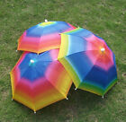 Sun Hat Cap Foldable Rainbow Umbrella Brolly Golf Travel Camping Fishing Hunting