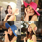 New Fashion Women Children Wide Large Floppy Brim Summer Beach Straw Sun Hat Cap