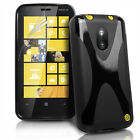 X Line Wave Gel Case Cover For Nokia Lumia 620 + Screen Protector