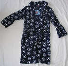 BNWT Boys Navy Football Design Navy Dressing Gown Bathrobe 2-3, 4-5 & 6-7 years