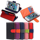 Credit Card Holder ID Wallet Leather Case Cover Flip Stand Pouch For iPhone 5 5S