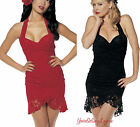 SeXy LACE EVENING DRESS Romantic Rose MARILYN MONROE Shirley Hollywood BLACK RED
