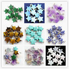 10 pcs Beautiful Mixed Gemstone Star Pendant Bead C260