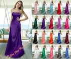 Long Bridesmaid Dress Evening Gown Party Ball Prom Formal Size 6 8 10 12 14 16 +