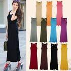 Womens Summer Dress  Jersey Racer Back Sleeveless Long Vest Maxi Dress