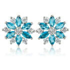 Costume Jewellery Marquise Cut 18K White Gold Plated Earrings