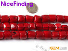 """Column Red Coral Stone Loose Beads Fashion Jewelry Making 15""""Size Selectable"""