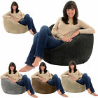 JUMBO CORD Giant Adult Beanbag Chair Big Bean Bag Lounger Bags Gamer Seat Gilda