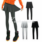 NEW Fashion Women's Slim Two-piece In One Straight Skirt Leggings Stretchy Pants