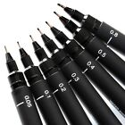 UNI-BALL EXTRA FINE LINER TECHNICAL PIN LINE DRAWING PENS 0.5 - 0.8mm BLACK
