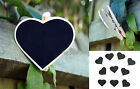 NEW Heart Pegs with Blackboards x 10 Wedding Lolly Buffet Placecards Decorations