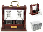 MINIATURE DOUBLE DECANTER TANTALUS Fine Quality Whisky Spirits Drinks Gift NEW
