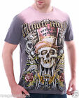 Minute Mirth T-Shirt Sz M L Red Hat Skull Tattoo Rock Hip Hop Skate Surf Z44