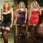 Plus Size Lingerie One Size 1X / 2X or 3X / 4X  Gartered Chemise DG3644X