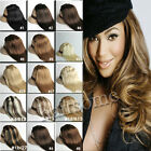 100% Real Clip In Straight Human Hair Extensions Free Ship Blacks Browns Blondes