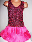 GIRLS SPARKLING BRIGHT PINK SEQUIN CHIFFON SPECIAL OCCASION DANCE PARTY DRESS