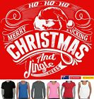 Merry *ucking Christmas rude Funny Singlet Men's ladies T-Shirt Women's top size