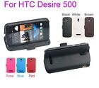 New Genuine magnetic Real Leather Case Cover stand Flip Case for HTC Desire 500