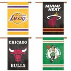 "Choose Your NBA Basketball Team 44x28"" Embroidered 2-Sided Applique Banner Flag"
