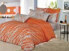 ORANGE TR Sheet Set Double/Queen/King Size Bed Flat&Fitted&Pillowcase New Cotton
