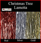 CHRISTMAS Tree LAMETTA Approx. 350 Strands RED, GOLD or SILVER