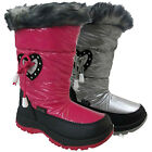 Kids New Red Rock Girls Thermal Winter Fur Lined Snow Ski Boots Shoes Size Uk