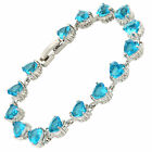 Women Party Jewellery Fashion Topaz White Gold Gp Ladies Dainty Tennis Bracelet