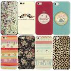 Painted Various Pattern Hard Back Skin Case Cover for Apple IPhone 4 4S 5 5S 5C