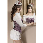 Lavender Plaid Zip Corset Top With Tie Bustiers Size S M L XL 2XL Freeshipping