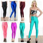 Ladies  High Waist Stretch Skinny Shiny Spandex Leggings Pants Slim  Tights