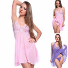 Sexy Mermaid Chemise Nighties Babydoll Nightdress G-string Size 6 8 10 12 14 24