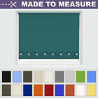 MADE TO MEASURE SUPERIOR LONG DROP ROUND EYELET ROLLER BLINDS - MANY COLOURS