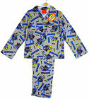 Boys Batman Animated Soft Thermal Cotton Button Up Pyjamas 3-10 yrs NEW