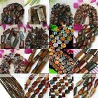 Various Natural Picasso Jasper Gemstone Loose Beads Jewellery Finding 1 Strand