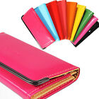 New Fashion Lady Women Candy Color Leather Purse Clutch Wallet Card Bags Handbag