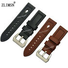 22mm 24mm New Top grade Manual Thicken stitched Genuine Leather Watch Band Strap