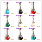 Pretty 16mm round beads Marcasite silver pendant 16x50mm (FREE gift  box +chain)