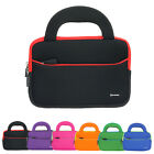 """7"""" ~ 8"""" Tablet Neoprene Portfolio Zipper Sleeve Cover Carrying Case with Handles"""